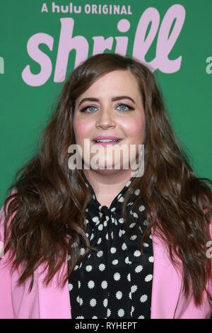 New York, NY, USA. 13th Mar, 2019. Aidy Bryant at arrivals for HULU New Comedy SHRILL Series Premiere, The Walter Reade Theater, New York, NY March 13, 2019. Credit: Jason Mendez/Everett Collection/Alamy Live News - Stock Photo