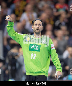Hamburg, Deutschland. 25th Jan, 2019. Goalkeeper Silvio HEINEVETTER (GER) gesture, gesture, semi-final Germany (GER) - Norway (NOR) 25 - 31, on 25.01.2019 in Hamburg/Germany. Handball World Cup 2019, from 10.01. - 27.01.2019 in Germany/Denmark. | usage worldwide Credit: dpa/Alamy Live News - Stock Photo