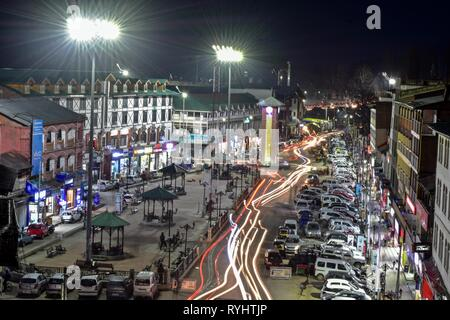 087522f0ea A late night view of commercial hub Lal chowk in Srinagar, Kashmir ...