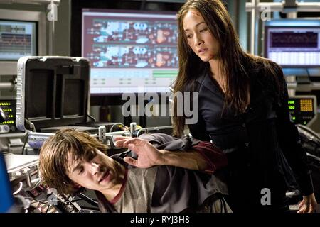 JUSTIN LONG, MAGGIE Q, LIVE FREE OR DIE HARD, 2007 - Stock Photo