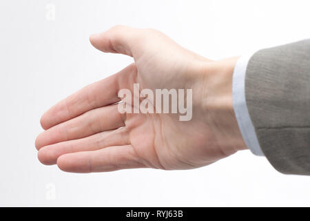 closeup. hand of a businessman, outstretched for a handshake - Stock Photo
