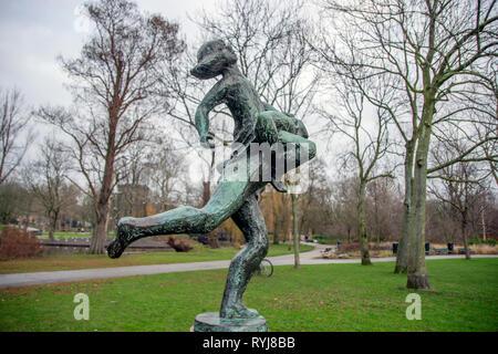 Spelende Kinderen Statue At Amsterdam The Netherlands 2018 - Stock Photo