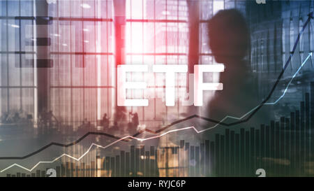 ETF - Exchange traded fund financial and trading tool. Business and investment concept. - Stock Photo
