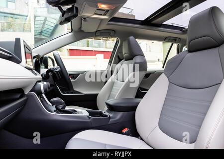 Hong Kong, China Jan 21, 2019 : Toyota RXV4 2019 Interior Jan 21 2019 in Hong Kong. - Stock Photo