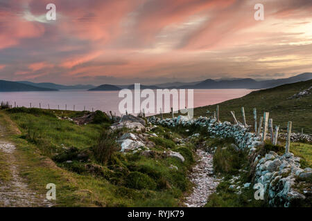 Dursey Island, Cork, Ireland. 18th June, 2016  A view of the mainland and the Beara Peninsula from Dursey Island, Co. Cork, Ireland. - Stock Photo