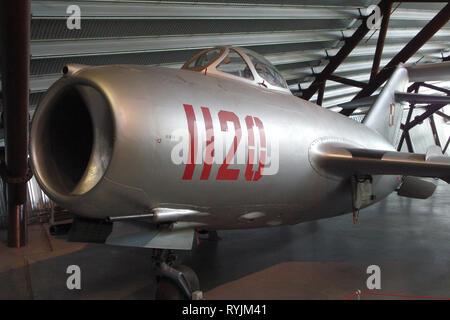 Mikoyan Gurevich MiG-15 Bis Soviet Fighter Jet Aircraft - Stock Photo