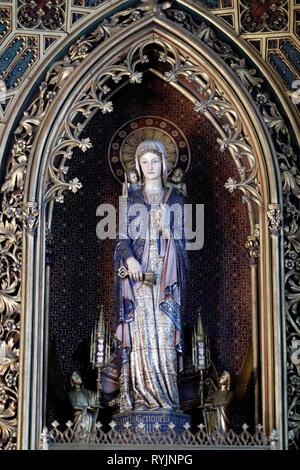 Saint Etienne du Mont church.  Saint Genevieve, the patron Saint of Paris.  Paris. France. - Stock Photo
