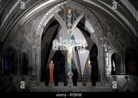 Nidaros Cathedral.  The crucifixion.  Trondheim. Norway. - Stock Photo