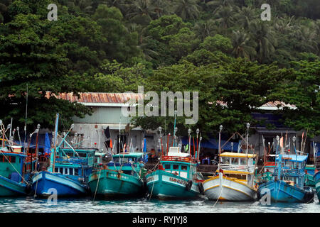 An Thoi harbour. Fisher boats. Vietnam. - Stock Photo