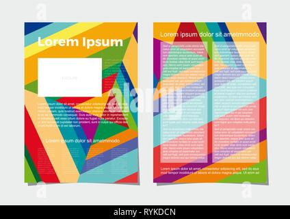Vector layout of A4 format modern cover design templates for brochure, magazine, flyer, booklet, annual report. Abstract geometric backgrounds. - Stock Photo