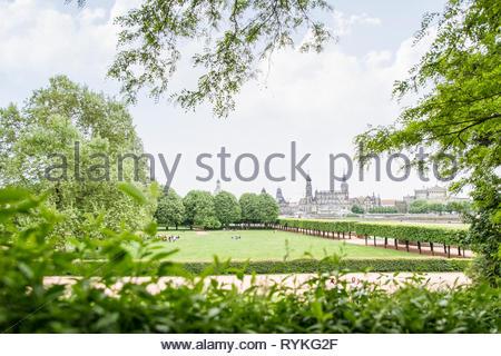 Canaletto Dresden in grün - Stock Photo