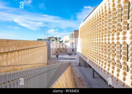 Malta, Valletta, The new Parliament Building, designed by Renzo Piano - Stock Photo