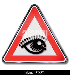 Sign eye, spectacle and moment - Stock Photo