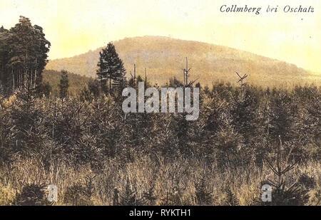 1920, Landkreis Nordsachsen, Collm, mit Collmberg, Germany - Stock Photo