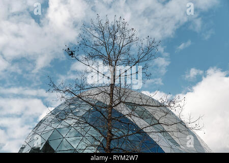 modern architecture and nature concept in eindhoven - Netherlands Holland - Stock Photo