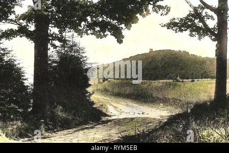 Dirt roads in Saxony, 1920, Landkreis Nordsachsen, Collm, mit Collmberg, Germany - Stock Photo