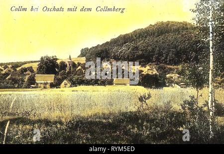 Churches in Landkreis Nordsachsen, 1920, Landkreis Nordsachsen, Collm, Collm und den Collmberg, Germany - Stock Photo