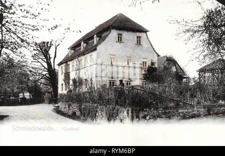 Restaurants in Landkreis Meißen, Klipphausen, 1903, Landkreis Meißen, Schmiedewalde, Gasthof, Germany - Stock Photo