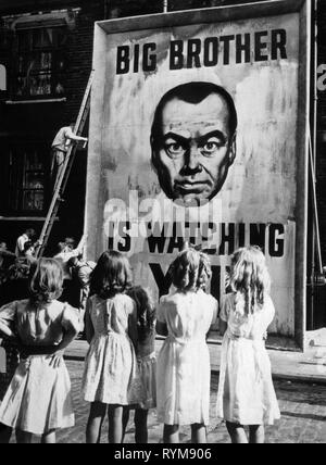 BIG BROTHER IS WATCHING POSTER, 1984, 1956 - Stock Photo