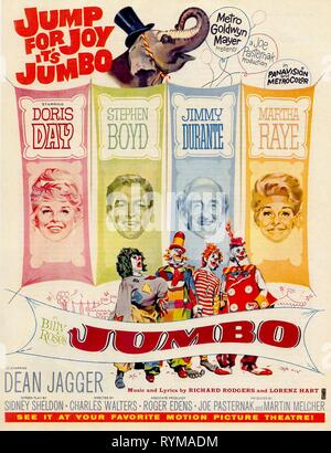 DAY,BOYD,DURANTE,POSTER, BILLY ROSE'S JUMBO, 1962