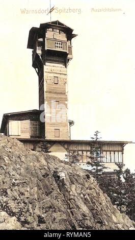 Observation towers in Ústí nad Labem Region, 1905, Ústí nad Labem Region, Warnsdorf, Spitzberg, Aussichtsturm, Czech Republic - Stock Photo