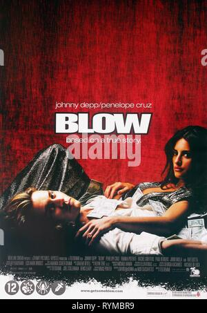 DEPP,POSTER, BLOW, 2001 - Stock Photo