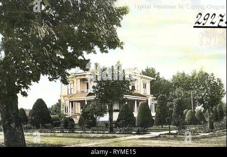 Buildings in Eugene, Oregon, 1906, Eugene, Ore., Typical Residence', United States of America - Stock Photo