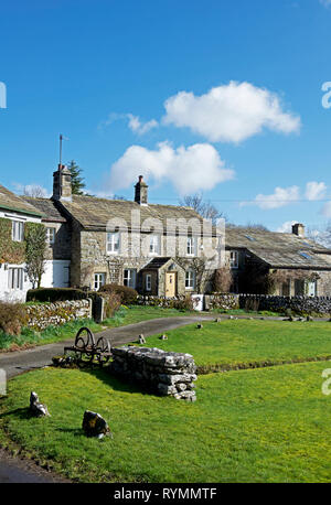 Group of cottages, Skirethorns, near Threshfield, Wharfedale, Yorkshire Dales National Park, North Yorkshire, England UK - Stock Photo