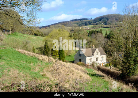 Slad is a village in the Cotswolds, near Painswick and Stroud Gloucestershire UK. Fomerly the home of author Laurie Lee who wrote cider with Rosie. - Stock Photo
