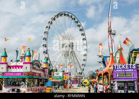 Houston, Texas - March 9, 2019 Houston Livestock Show and Rodeo - Stock Photo