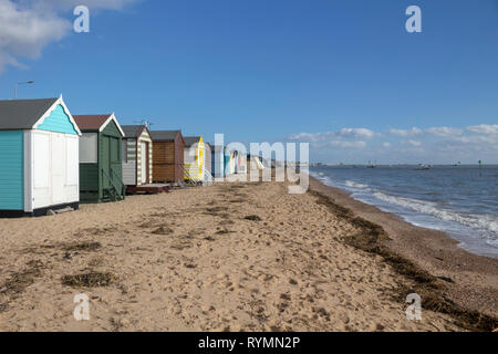 Thorpe Bay beach, near Southend-on-Sea, Essex, England - Stock Photo