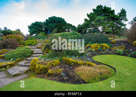 The Rock Garden a in Royal Botanic Garden Edinburgh, Scotland ,UK - Stock Photo