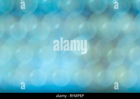 Abstract blue and green tones image of overlapping circles background - Stock Photo