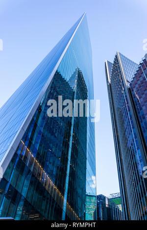 The Scalpel, a new skyscraper in the Square Mile, London, England, UK - Stock Photo