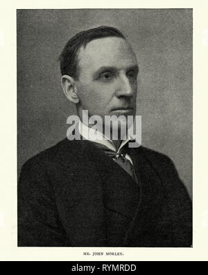 Vintage photograph of John Morley, 1st Viscount Morley of Blackburn, a British Liberal statesman, writer and newspaper editor. - Stock Photo