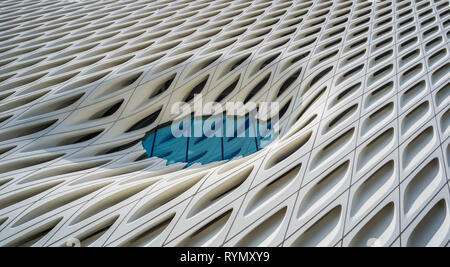 Architectural Details of The Broad Contemporary Art Museum in downtown LA - Stock Photo