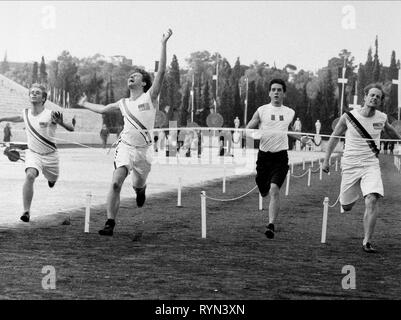CONNERY,COBB,FREWER, THE FIRST OLYMPICS: ATHENS 1896, 1984 - Stock Photo