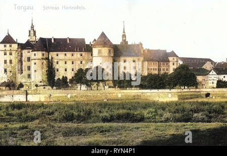 Schloss Hartenfels, Torgau, 1904, Landkreis Nordsachsen, Schloß Hartenfels, Germany - Stock Photo