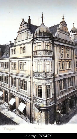 Town hall (Torgau), 1904, Landkreis Nordsachsen, Torgau, Rathaus, Germany - Stock Photo