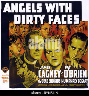 O'BRIEN,CAGNEY,POSTER, ANGELS WITH DIRTY FACES, 1938 - Stock Photo