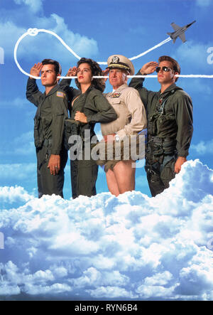 SHEEN,GOLINO,BRIDGES,ARTWORK, HOT SHOTS!, 1991 - Stock Photo