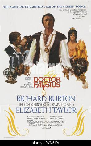 FILM POSTER, DOCTOR FAUSTUS, 1967 - Stock Photo