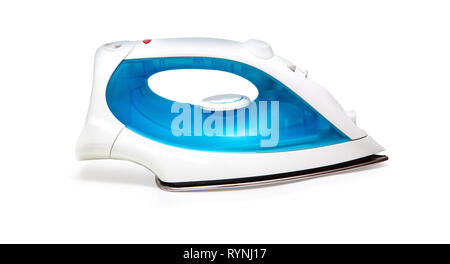 iron housework ironed electric tool clean white background ironing steam housekeeping with clipping path - Stock Photo