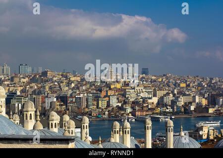 View on istanbul acros bosphorus - Stock Photo