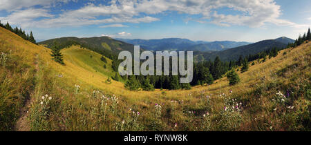 Mountain panorama, Velka Fatra, Smrekovica - Stock Photo