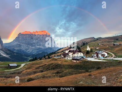 Mountain Landscape in Italy Alps - Passo Gardena in Dolomites - Stock Photo