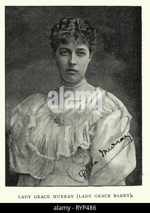Vintage photograph of Lady Grace Murray (Lady Grace Barry), 1890s, 19th Century, Victorian - Stock Photo