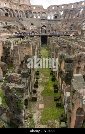 Roman Coliseum interior. - Stock Photo