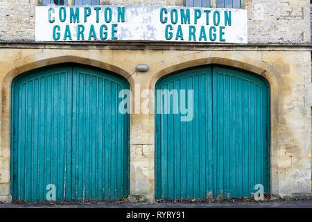 Compton Garage doors - Stock Photo