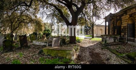 Brompton Cemetery. London. UK - Stock Photo